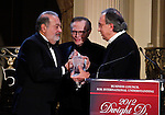 Carlos Slim Helu, Larry King y Sergio Marchionne During the Dwight D. Eisenhower global leadership award in New York, United States. 12/12/2012. Photo by Kena Betancur/VIEWpress.