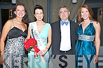 CONGRATULATIONS: The Judges of the Kerry Rose selection 2013 at the Ballyroe Heights Hotel, Tralee on Friday evening congrats the incoming 2013 Kerry Rose Gemma Kavanagh, Killarney. l-r: Sinead Boyle (1989 Rose of Tralee), Gemma Kavanagh (Kerry Rose 2013), Dr George Philips and KLarenm McGillcuddy (Kerry Rose 2009).