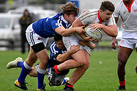 College Rugby - St Patricks College v St Bede's College at Evans Bay, Wellington, New Zealand on Tuesday 23  April 2019. <br /> Photo by Masanori Udagawa. <br /> www.photowellington.photoshelter.com