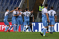 Felipe Caicedo of Lazio celebrates with team mates after scoring the goal of 1-0 on penalty during the Serie A 2018/2019 football match between Lazio and Empoli at stadio Olimpico, Roma, February 7, 2019 <br />  Foto Andrea Staccioli / Insidefoto