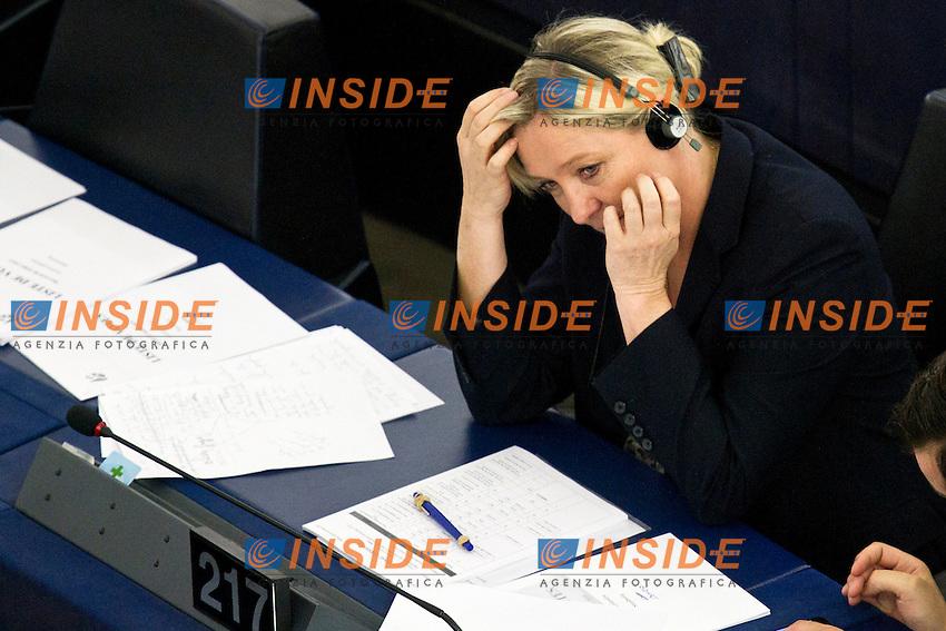 Marine Le Pen ( Front National)<br /> Strasburgo 08-07-2015 Seduta del Parlamento Europeo<br /> Foto Elyxandro Cegarra / Panoramic/ Insidefoto