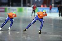 SCHAATSEN: BOEDAPEST: Essent ISU European Championships, 07-01-2012, 5000m Men, Sven Kramer NED in rit tegen Koen Verweij NED, ©foto Martin de Jong