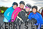 Pictured at the inaugural leisure spin programme cyclie by Killarney Cycling Club on Thursday evening were Amy O'Neill, Trish Hall, Carla O'Neill and Dawn Murphy. ...... ..........................