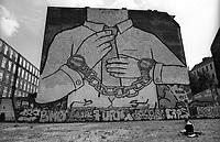 Berlino, graffiti dell'artista italiano Blu al quartiere Friedrichshein --- Berlin, graffiti by Italian artist Blu in Friedrichshein district