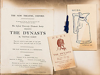BNPS.co.uk (01202 558833)<br /> Pic: ForumAuctions/BNPS<br /> <br /> Pictured:  The programme 'The Dynasts' by the Oxford Union Dramatic Society in 1920.<br /> <br /> Charming previously unseen photos of a university's historic Thomas Hardy's production have come to light a century later.<br /> <br /> They show the performance of his play 'The Dynasts' by the Oxford Union Dramatic Society in 1920.<br /> <br /> It was the first time the prestigious society, which was founded in 1885, staged a play by a living author.<br /> <br /> The large ensemble cast can be seen in costume performing various scenes from Hardy's epic Napoleonic Wars drama which was published in three parts in 1904, 1905 and 1908.<br /> <br /> Hardy was a distant relative of Captain Thomas Hardy, who served with Admiral Nelson at the Battle of Trafalgar.