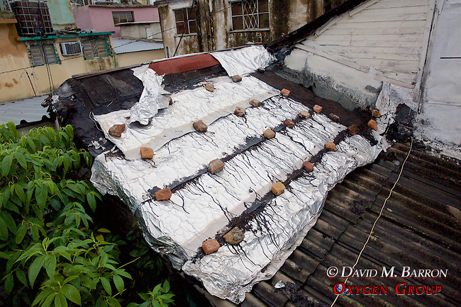 Ton Foil On Roof To Keep The Elements Out