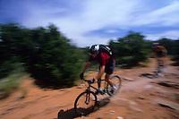 Mountain Biking the Porcupine Rim Trail, Moab Utah