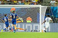 Daniel Sturridge of England scores a goal to make it 1-1