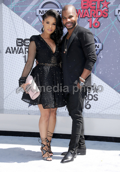 26 June 2016 - Los Angeles. Tammy Collins, Kirk Franklin. Arrivals for the 2016 BET Awards held at the Microsoft Theater. Photo Credit: Birdie Thompson/AdMedia