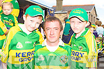 Donnagh, Denis and Cieran Fitzgerald Rathmore enjoying the Kerry team homecoming in Rathmore on Monday