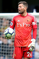 Watford goalkeeper, Ben Foster during Chelsea vs Watford, Premier League Football at Stamford Bridge on 5th May 2019