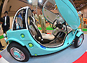 "June 14, 2012, Tokyo, Japan - Toyota's latest concept Camatte Sora is on display at the Tokyo Toy Show on Thursday, June 14, 2012, in Tokyo. ..The EV car features a realistic interior with an instrument cluster, adjustable seats, gas pedal, steering wheel and brakes. Toyota says that the idea of the Camatte is to ""convey the joy and dreams of motor vehicles to current and future drivers."" The largest show of latest toys runs through Sunday, expecting to draw some 150,000 visitors including buyers from overseas. (Photo by Natsuki Sakai/AFLO) AYF -mis-."