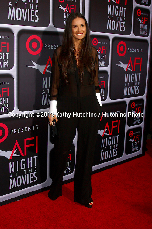 LOS ANGELES - APR 24:  Demi Moore arrives at the AFI Night at the Movies 2013 at the ArcLight Hollywood Theaters on April 24, 2013 in Los Angeles, CA