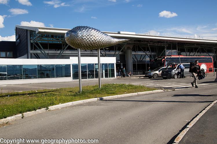 Exterior of airport terminal building at Tromso, Norway