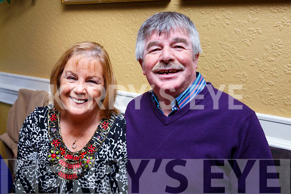 Enjoying their New Year Celebrations in the Brogue Inn on Sunday night are l-r, Carmel and Bracker Regan
