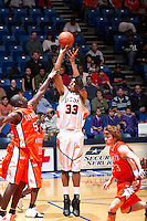 SAN ANTONIO, TX - JANUARY 19, 2006: The Sam Houston State University Bearkats vs. The University of Texas at San Antonio Roadrunners Men's Basketball at the UTSA Convocation Center. (Photo by Jeff Huehn)