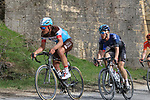 The peloton including Silvain Dillier (SUI) AG2R La Mondiale on sector 5 Lucignano d'Asso during Strade Bianche 2019 running 184km from Siena to Siena, held over the white gravel roads of Tuscany, Italy. 9th March 2019.<br /> Picture: Seamus Yore | Cyclefile<br /> <br /> <br /> All photos usage must carry mandatory copyright credit (© Cyclefile | Seamus Yore)