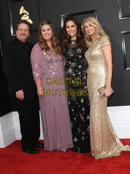 12 February 2017 - Los Angeles, California - Linda Davis, Hillary Scott, Lang Scott, Rylee Scott. 59th Annual GRAMMY Awards held at the Staples Center.  <br /> CAP/ADM<br /> &copy;ADM/Capital Pictures
