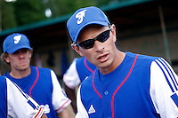 24 June 2011: Team France manager Fabien Proust is seen during France 8-5 win over UCLA Alumni, at the 2011 Prague Baseball Week, in Prague, Czech Republic.