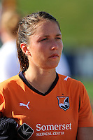 Kiersten Dallstream (2) of Sky Blue FC. The Philadelphia Independence defeated Sky Blue FC 2-1 during a Women's Professional Soccer (WPS) match at John A. Farrell Stadium in West Chester, PA, on June 6, 2010.