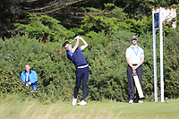 Conor Gough  (GB&I) on the 6th tee during the singles matches at the Walker Cup, Royal Liverpool Golf Club, Hoylake, Cheshire, England. 07/09/2019.<br /> Picture Fran Caffrey / Golffile.ie<br /> <br /> All photo usage must carry mandatory copyright credit (© Golffile | Fran Caffrey)