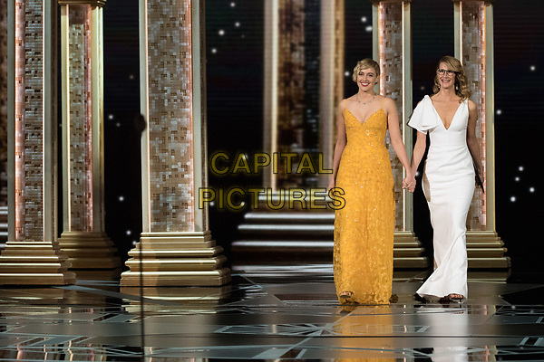 04 March 2018 - Hollywood, California - Greta Gerwig and Laura Dern. 90th Annual Academy Awards presented by the Academy of Motion Picture Arts and Sciences held at the Dolby Theatre.