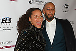 """Musician Alicia Keys and husband Kasseem Dean aka """"Swizz Beatz"""" arrive at the Recording Academy Producers & Engineers Wing event honoring Alicia Keys and Swizz Beatz at 30 Rockefeller Plaza in New York City, during Grammy Week on January 25, 2018."""