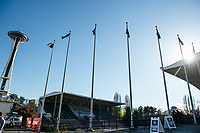Seattle, WA - April 15th, 2017: Memorial Stadium prior to a regular season National Women's Soccer League (NWSL) match between the Seattle Reign FC and Sky Blue FC.