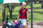 HOWEY IN THE HILLS, FL - MAY 11: Margaret Loncki of Claremont Mudd Scripps was the winner of the Division III Women's Golf Championship Individual trophy with a score of +11. The Claremont Mudd Scripps won the team and individual First Place Championships during the Division III Women's Golf Championship held at the Mission Inn Resort & Club on May 11, 2018 in Howey-In-The-Hills, Florida. (Photo by Matt Marriott/NCAA Photos via Getty Images)