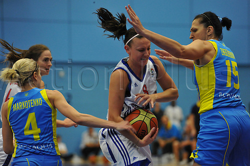 20.08.2010 Chantelle Handy (GBR)   in action during the Eurobasket Women 2011 Qualifiers   Division A Great Britain take the Ukraine at Surrey University