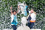 Real Madrid Marcelo and Sergio Ramos during the celebration of the Thirteen Champions League at Cibeles Fountain in Madrid, Spain. May 27, 2018. (ALTERPHOTOS/Borja B.Hojas)