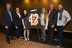 "Tom Kinney, Hal Berman, Sara Wiesenfeld, Bonnie Comley, Stewart F. Lane and Gio Messale attends the BroadwayHD's ""42nd Street"" Screening at the AMC Empire 25 Theatres on April 16, 2019 in New York City."