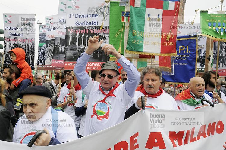 25/04/2015  - Milano, 70° anniversario della  Liberazione dal nazifascismo, manifestazione nazionale