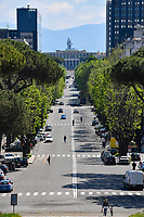 A view of EUR neighborood <br /> Roma 24/04/2020 <br /> City lockdown as a measure to contrast the covid-19 coronavirus pandemic <br /> Photo Andrea Staccioli Insidefoto