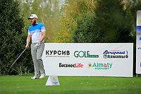Nathan Kimsey (ENG) during the third round of the Kazakhstan Open presented by ERG played at Zhailjau Golf Resort, Almaty, Kazakhstan. 15/09/2018<br /> Picture: Golffile | Phil Inglis<br /> <br /> All photo usage must carry mandatory copyright credit (&copy; Golffile | Phil Inglis)