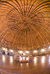 Interior of the Round red barn along Route 66 in Arcadia, Okla.