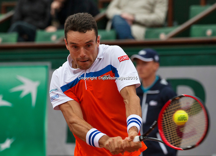 Paris, France, 31 June, 2016, Tennis, Roland Garros, Roberto Bautista Agut (ESP)<br /> Photo: Henk Koster/tennisimages.com