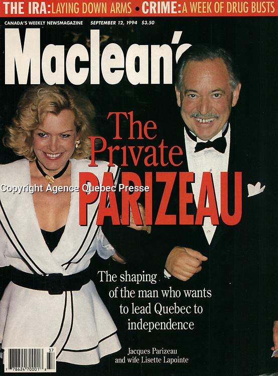 Publication  en couverture de Maclean's<br /> <br /> Photo : Pierre Roussel