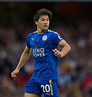 Leicester City's Shinji Okazaki <br /> <br /> Photographer Craig Mercer/CameraSport<br /> <br /> The Premier League - Arsenal v Leicester City - Friday 11th August 2017 - Emirates Stadium - London<br /> <br /> World Copyright &copy; 2017 CameraSport. All rights reserved. 43 Linden Ave. Countesthorpe. Leicester. England. LE8 5PG - Tel: +44 (0) 116 277 4147 - admin@camerasport.com - www.camerasport.com