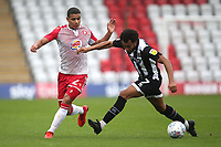 Luther Wildin of Stevenage and Matt Green of Grimsby Town during Stevenage vs Grimsby Town, Sky Bet EFL League 2 Football at the Lamex Stadium on 12th October 2019