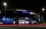 General view with car lights trails of the match venue before the Carabao Cup match at the King Power Stadium, Leicester. Picture date: 8th January 2020. Picture credit should read: Darren Staples/Sportimage