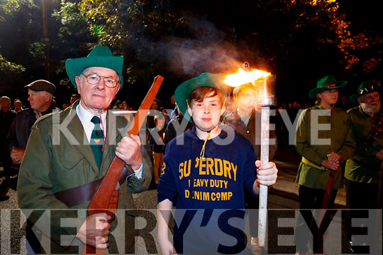 Richard and Samuel Behal, pictured at the Remembrance of Thomas Ashe torchlight parade in Ashe Street, on Monday night last.