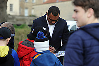Semesa Rokoduguni of Bath Rugby signs autographs prior to the match. Heineken Champions Cup match, between Bath Rugby and Wasps on January 12, 2019 at the Recreation Ground in Bath, England. Photo by: Patrick Khachfe / Onside Images