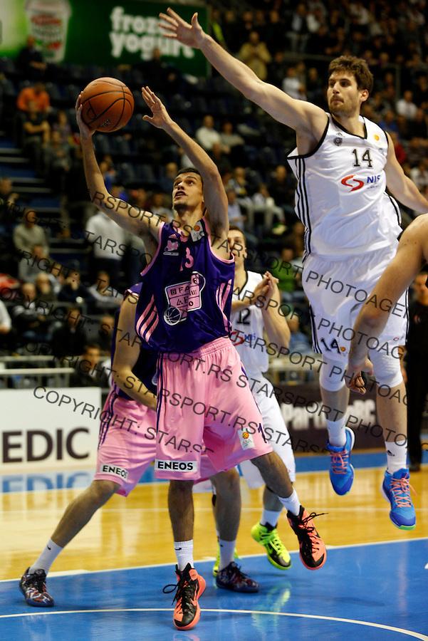Nenad Miljenovic ABA liga, Partizan - Mega Leks, Beograd, Srbija, 7.12.2014 (credit image & photo: Pedja Milosavljevic / STARSPORT). © 2014 Pedja Milosavljevic / +318 64 1260 959 / thepedja@gmail.com