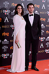 Melina Matthews and Raul Arevalo attends to the Red Carpet of the Goya Awards 2017 at Madrid Marriott Auditorium Hotel in Madrid, Spain. February 04, 2017. (ALTERPHOTOS/BorjaB.Hojas)