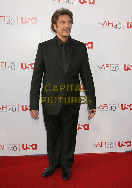 AL PACINO .35th AFI Life Achievement Award Honoring Al Pacino held at the Kodak Theatre, Hollywood, California, USA..June 7th, 2007.full length black suit goatee facial hair .CAP/ADM/RE.©Russ Elliot/AdMedia/Capital Pictures