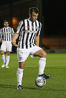 Paul McGowan in the St Mirren v Hamilton Academical Scottish Communities League Cup match played at St Mirren Park, Paisley on 25.9.12.