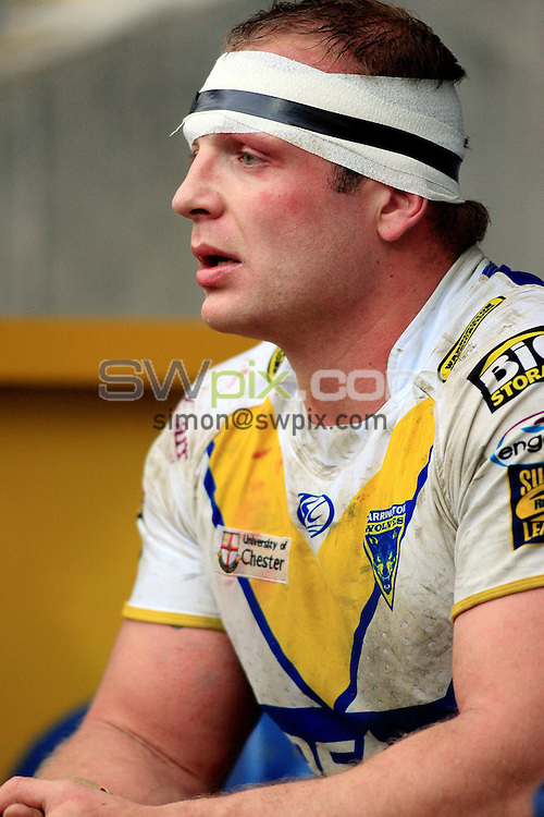 Pix: Chris Mangnall /SWPix.com, Rugby League, Super League. 28/02/10 Huddersfield Giants v Warrington Wloves....picture copyright>>Simon Wilkinson>>07811267 706>>....Warrington's (10) Garreth Carvell