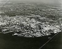 1963 July 12..Historical...View looking North at Downtown Norfolk.Young Park.Tidewater Gardens .Calvert Square in backgroung..HAYCOX PHOTORAMIC INC..NEG# C62-45.5-5.NRHA#..