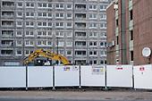 Demolition of Gloucester House and Durham Court blocks in Phase 2b of Brent Council's South Kilburn Estate regeneration scheme.